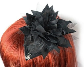 Black Fascinator with scarab