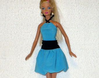 Handmade skirt and top for Barbie doll