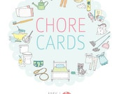 Children's Printable CHORE CARDS with POINTS- Digital File Instant Download - Routine Cards, daily schedule, chore system, chore record