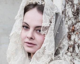 Amazing Antique victorian edwardian veil/shawl