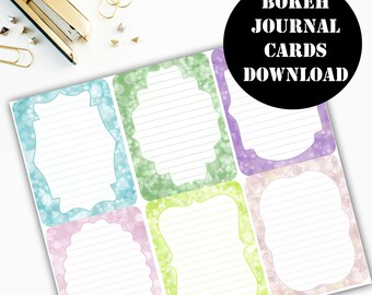 Bokeh Journaling Card Printable / Journal Cards / Scrapbook Kit / Journaling List / Listers Gotta List / Instant Download 00063