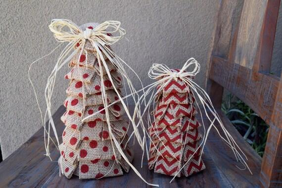 Burlap Christmas Burlap Christmas Tree Shabby Chic Fabric