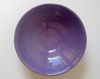 Handmade stoneware ceramic bowl. Purple #EarthandClays
