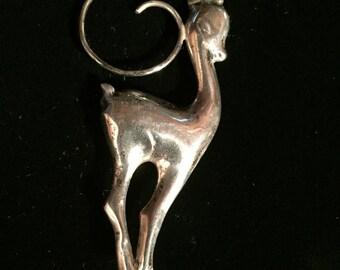 Sterling Antelope Pin