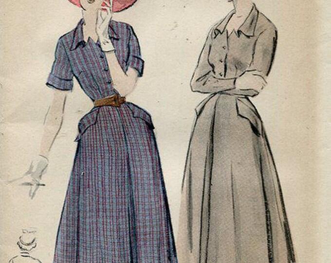 FREE US SHIP Butterick 4893 Vintage Retro 1950's 50's Unused Shirtwaist Dress Bust 36 Sewing Pattern