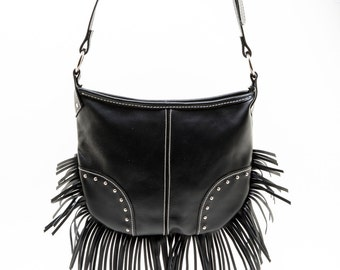 Britchin Leather Crossbody Bag in Black