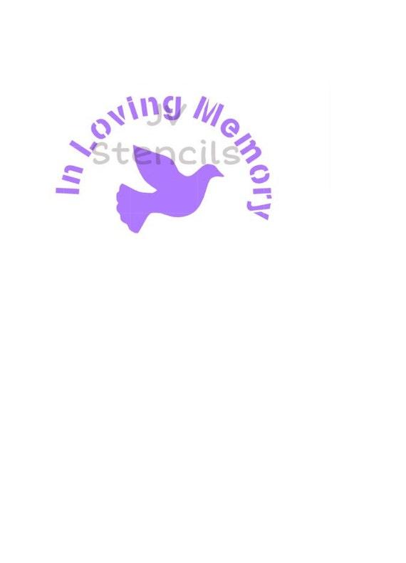 In Loving Memory Stencils From Jvstencils On Etsy Studio
