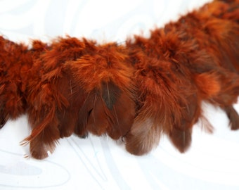 """Brown strung plumage feathers 2"""" - 3"""""""