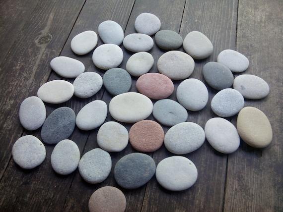 35 medium flatt strand steine flache meer steine. Black Bedroom Furniture Sets. Home Design Ideas