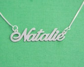 Teen Name Necklace / Name Necklaces / Personalized Teen Necklace / Girls Nameplate Necklace / Name Plate Necklace / Silver Necklace