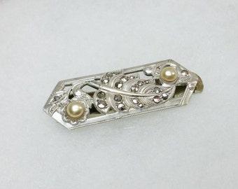 Old, antique Markasiten brooch 830 silver SB136