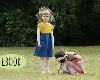Strickanleitung Nähanleitung Kinderkleid ROSA
