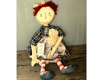 Cookie Annie Doll~Primitive Folk Art~ MADE TO ORDER