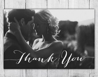 Photo Thank You Card, Custom Photo DIY Thank You Card, Print at Home Card, Digital