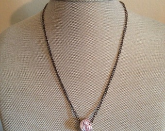 Pink Love Knot Necklace