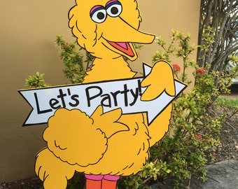 Big Bird Cutout - Sesame Street Cutout - Sesame Street Party - First Birthday - Sesame Street - Character Cut Out - Prop - Big Bird