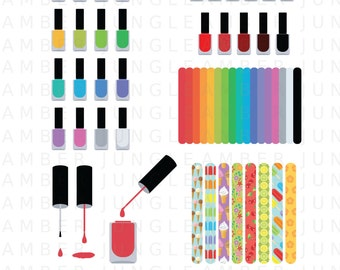 Manicure clip art – Etsy