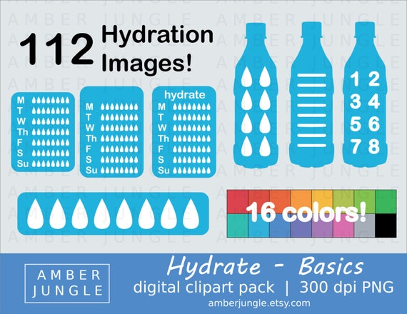 Hydration Clipart Basics Instant Download Hydrate