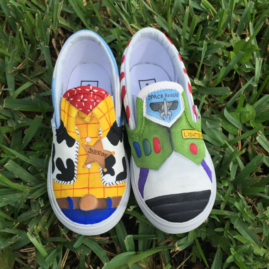 painted story inspired canvas shoes made to