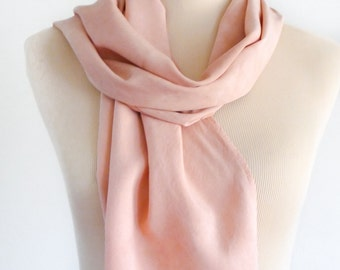 Rhubarb Rosy Rayon Scarf - Hand Dyed - Eco Dyed - Earthy - Hippie - Boho - Lightweight Scarf - Summer Scarf - Eco Friendly Clothing