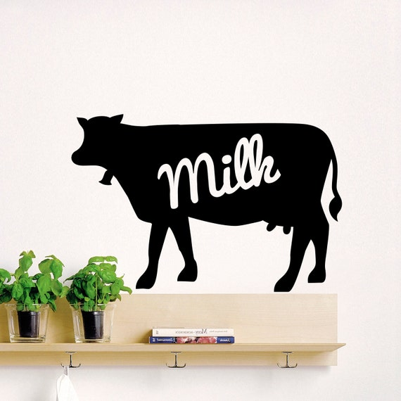 Wall decal animals cow milk design wall decals by for Cow bedroom ideas