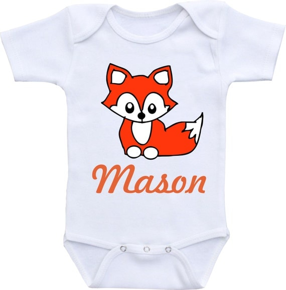 Items similar to Babyshower t clothing FOX Personalized
