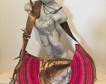 Pleated Fan Bag