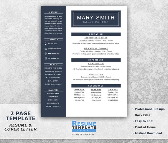 one page resume template word resume cover letter templates cv templates word curriculum