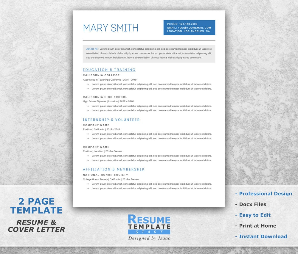 student resume template word academic resume template for