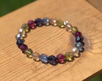 Jewel Tone Wire Bracelet