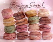 Photography cute macaroons, macaroon Rose, Fine Art Print, Shabby Chic, Vintage photo, French Typography, Photography pastel