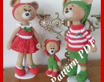 Crochet Pattern, pattern, tutorial, Amigurumi, bear family