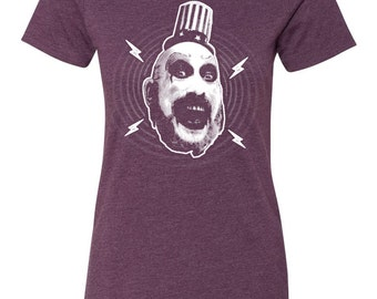 Captain Spaulding Women's T-Shirt Design House of 1000 Corpses Devils Rejects Horror Movie Rob Zombie