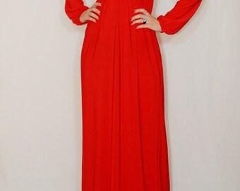 Red maxi dress Long sleeve dress Maxi dress Women