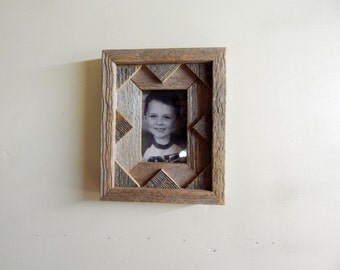 """Weathered Cedar 7"""" by 8"""" Wallet Photograph Frame"""