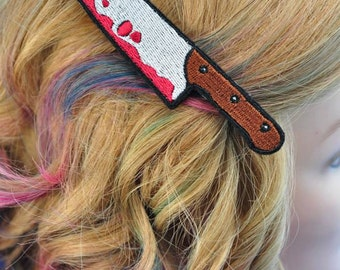 Bloody Butcher Knife Hairclip