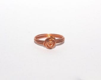 Rose Gold Rose Wire Ring