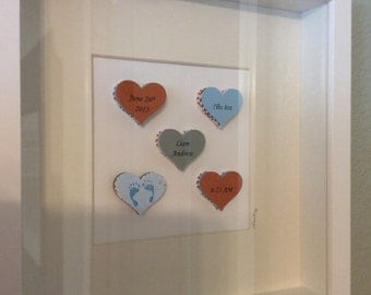 Personalized 3D Paper Art, Hearts