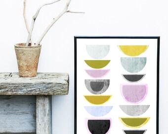Scandinavian Art, Giclee Print, Abstract Art Print, Geometric Art,  Mid Century Modern, Art, Abstract Wall Art, Modern Art Print