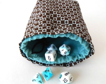 Limited Edition Custom Dice Bag Turquoise Swirl