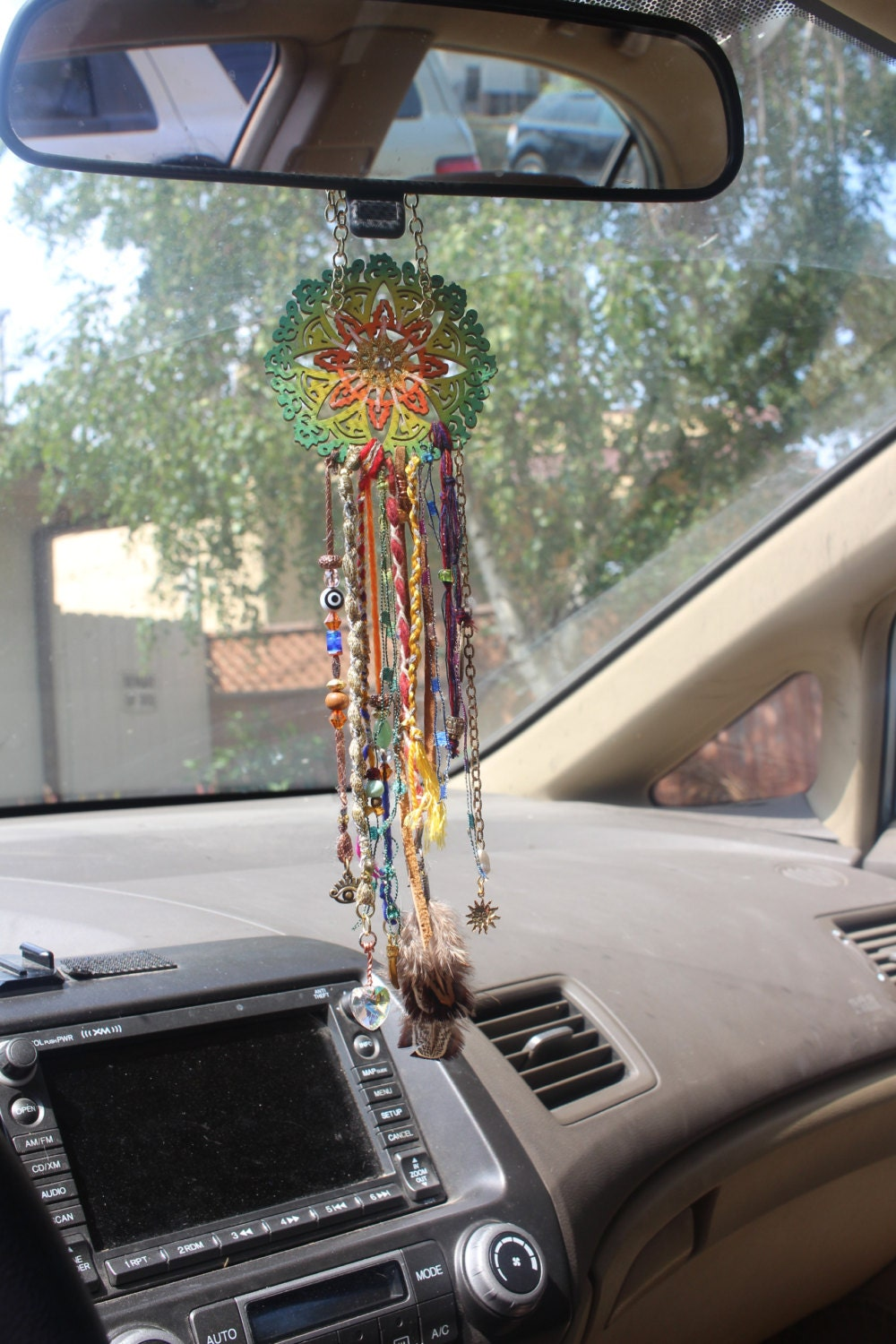 dream catcher car mirror hanger car mirror charm car. Black Bedroom Furniture Sets. Home Design Ideas