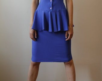 Vintage Blue Frill Dress