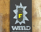 F Bomb enamel pin