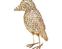 Bird Sculpture // Golden Bird // 3D Art// Bird Sculpture // Pla // Made with a 3D Pen // Firm to Touch // Metallic Large Bird // Black Bird