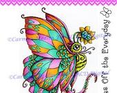 Alien Butterfly DIGITAL STAMP Download - Carmen Medlin for SCACD