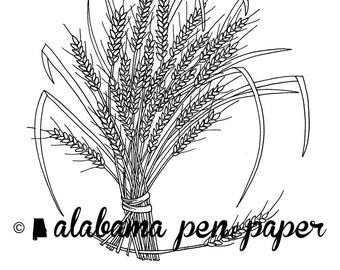 Wheat Harvest Coloring Page Download