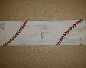 Distressed Baseball hat rack