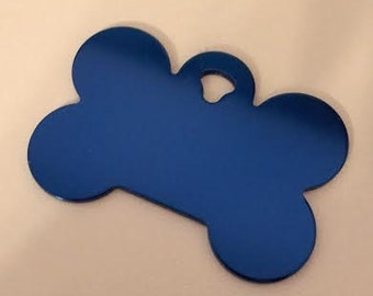 Pet ID Tags, Dog Tags, Engraved Pet ID Tags, Large Blue Bone
