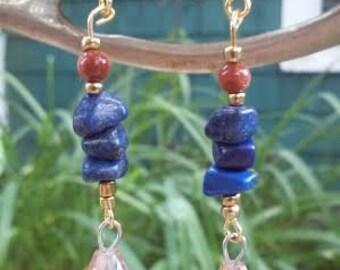 Lapis-Lazuli ~ SoulSpeaker Charmed Earrings (One of a Kind)