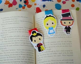 Alice in wonderland magnetic bookmark